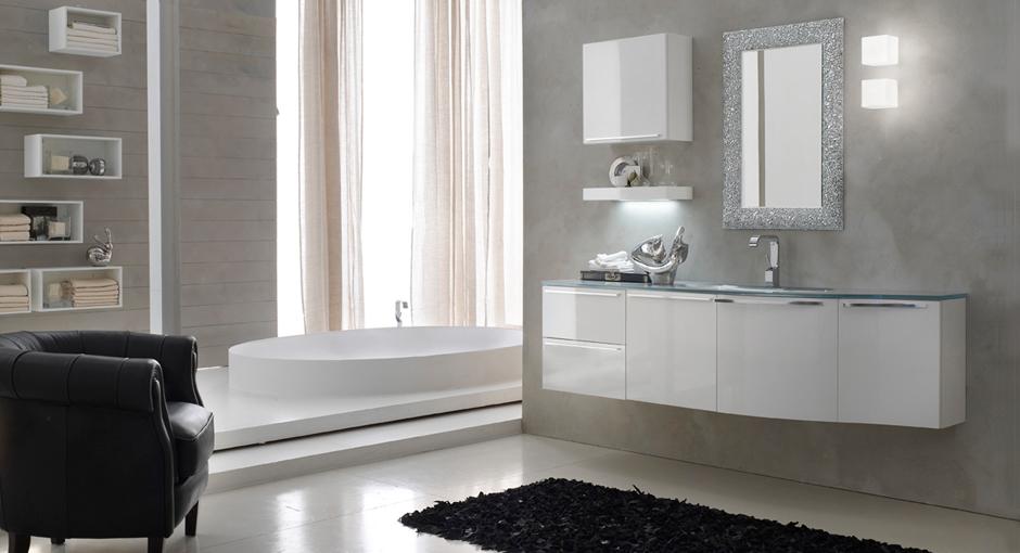 Bagno bianco e grigio finest mobili bianco e grigio with bagno